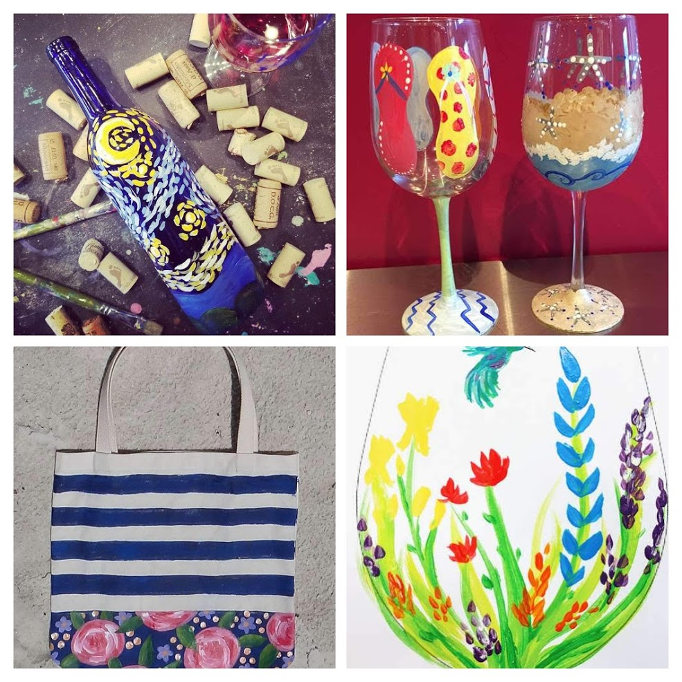 Glass and Tote
