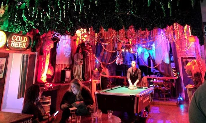 Halloween dive bar