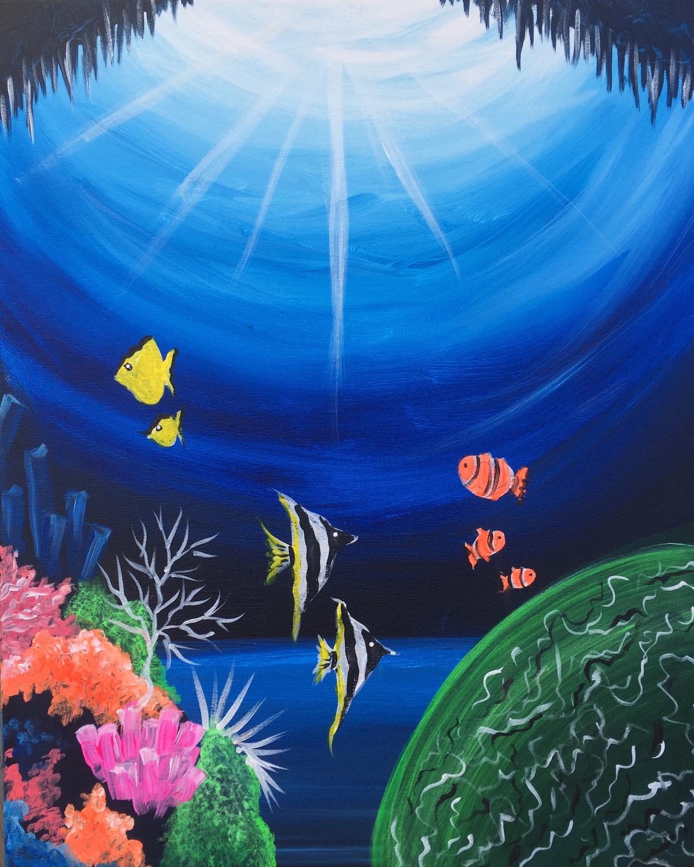 underwater painting easy - HD1200×1500
