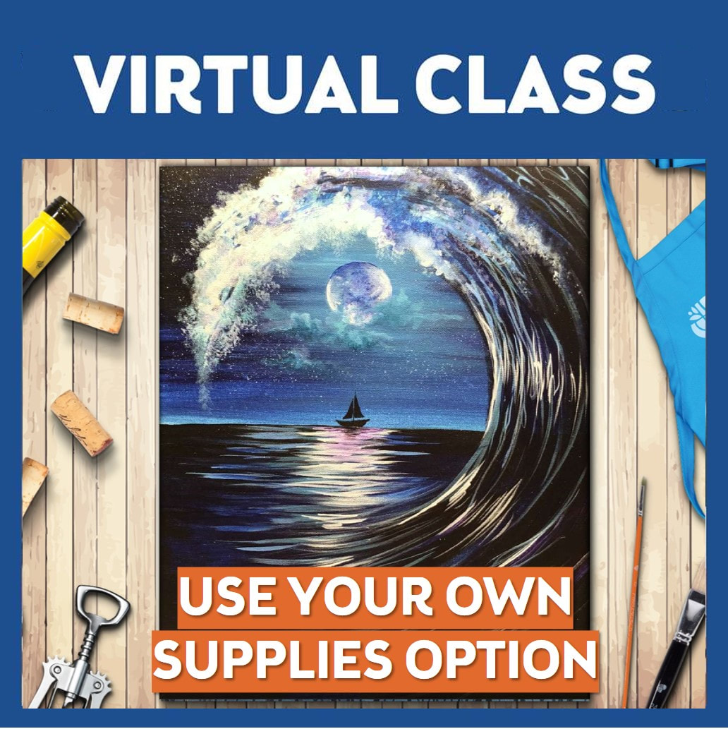 Moonlit Wave Virtual Class Only