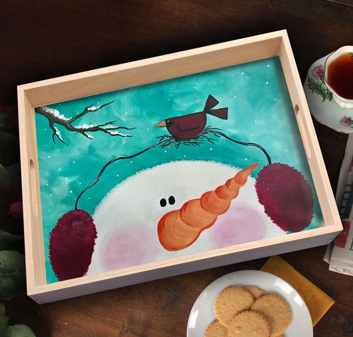 Paint a Wood Tray
