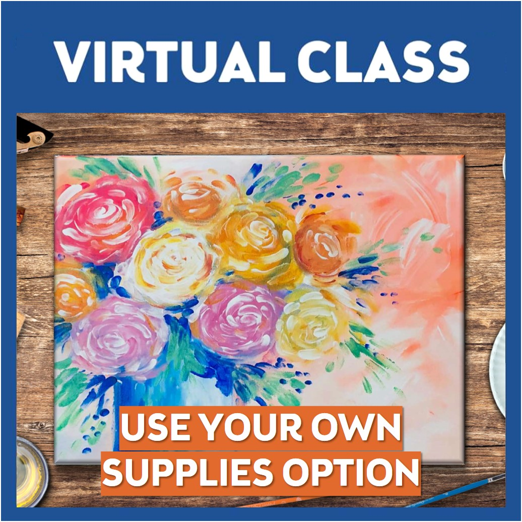 Pinot's Poppin' Peonies Brushless Virtual Class Only