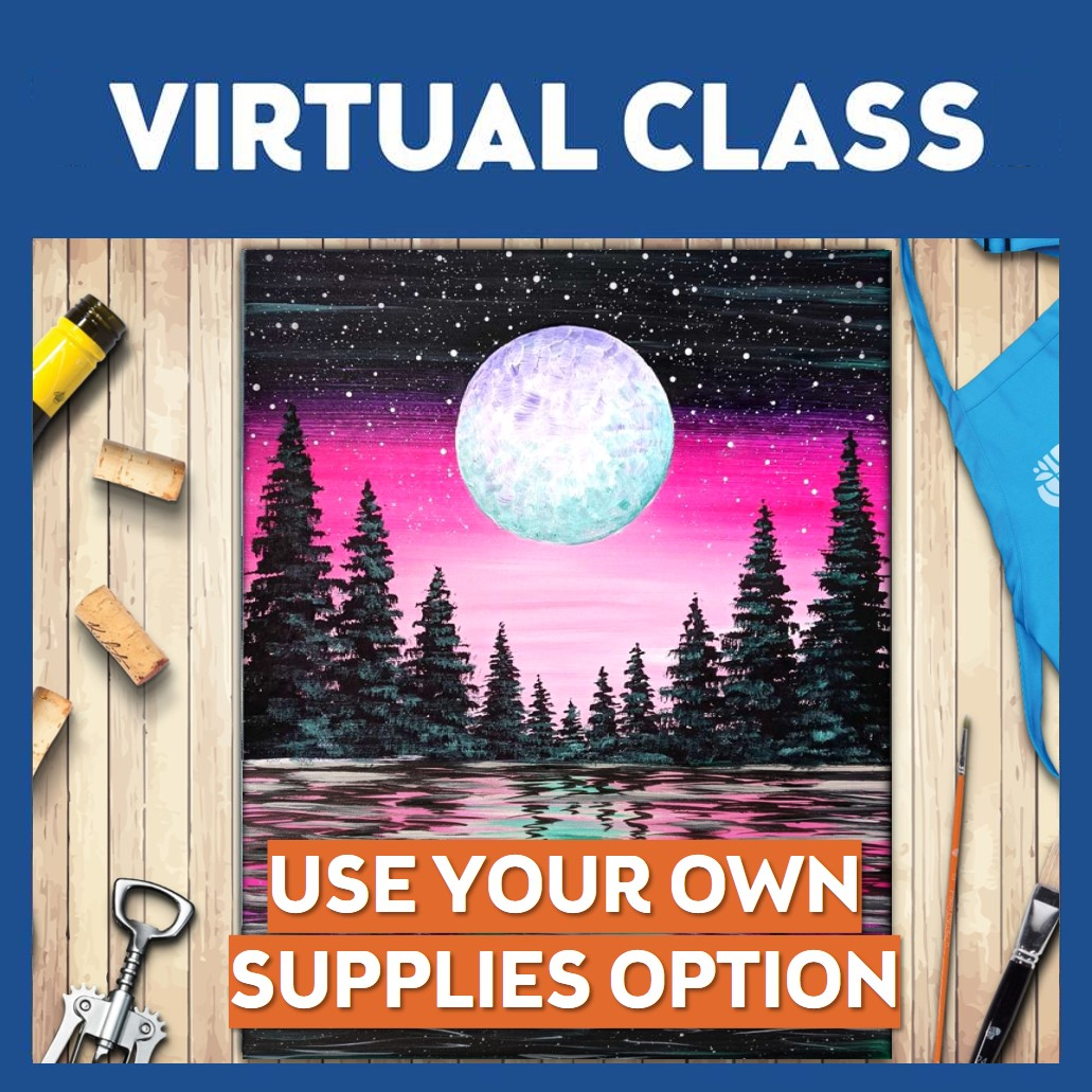 Vibrant Moon Forest  Virtual Class Only