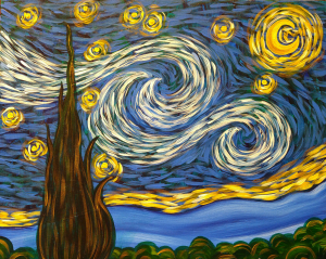 Simply a Starry Night by Pinot's Palette