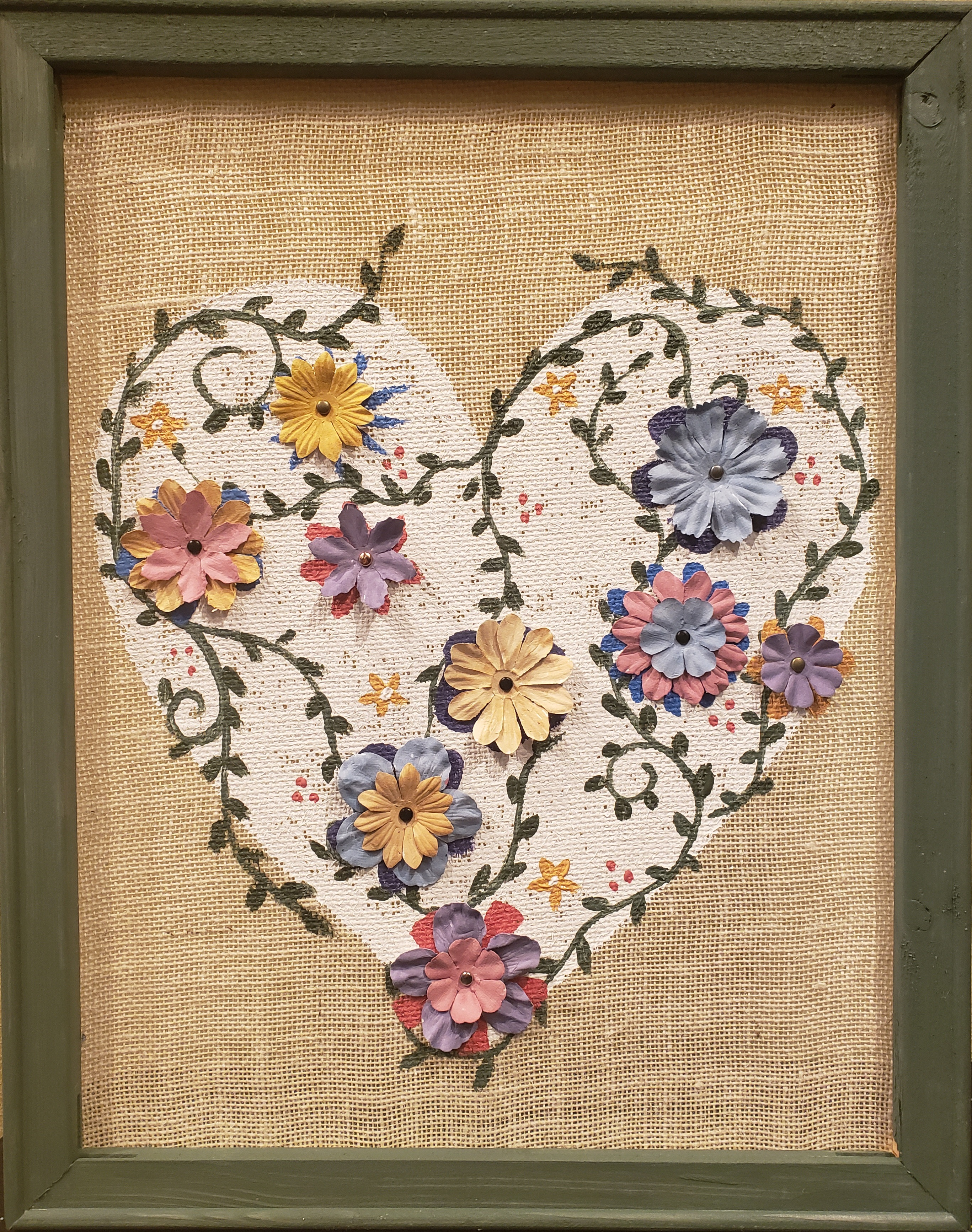 Rustic Blossoming Heart