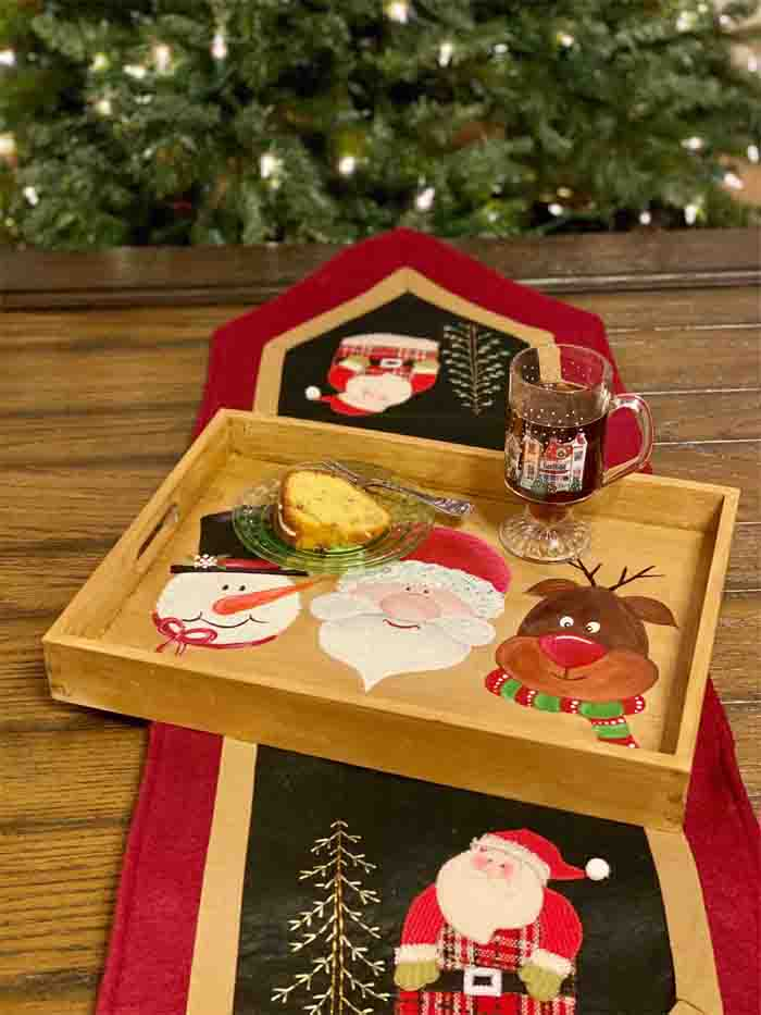Christmas Friends Serving Tray