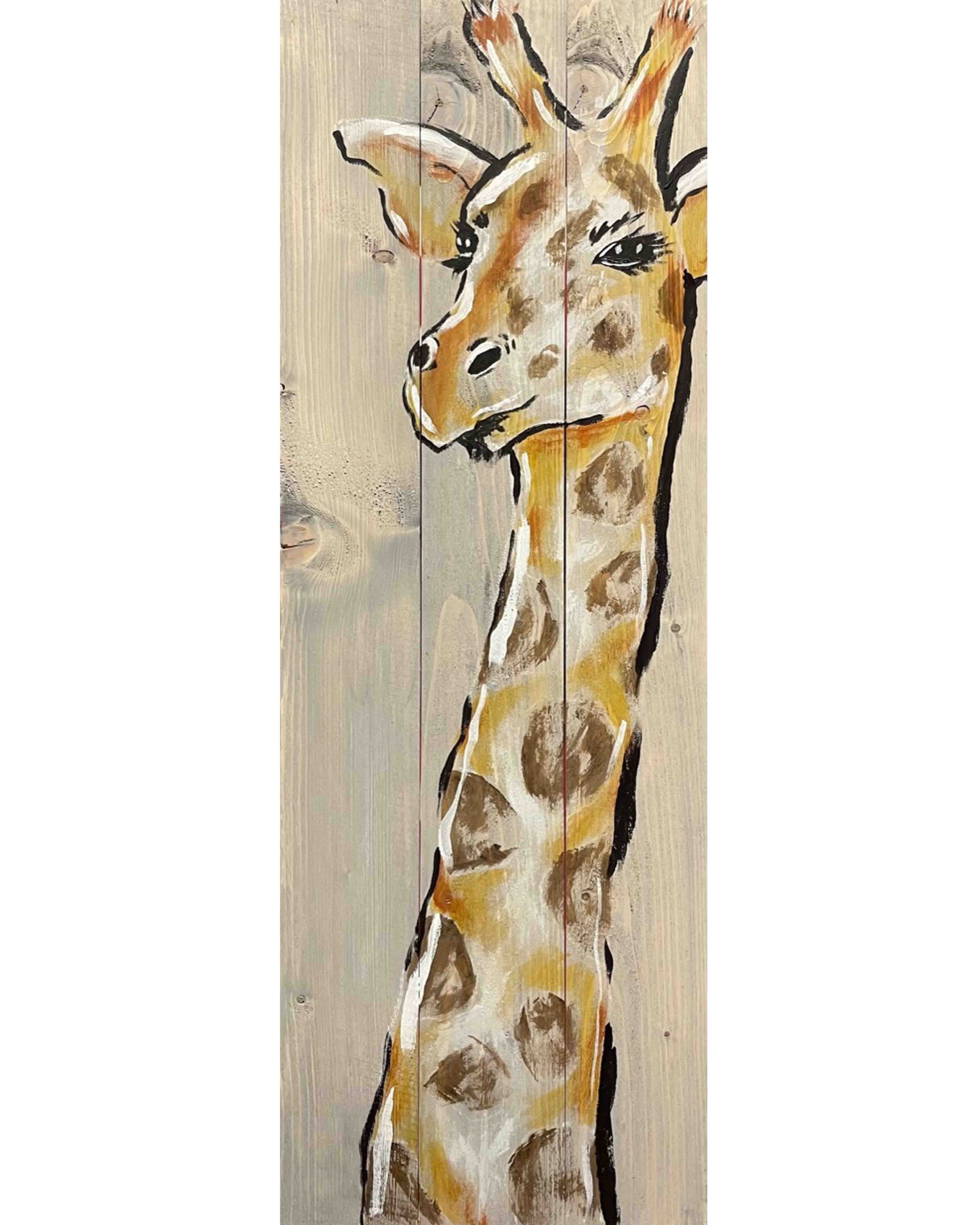Wood Board Giraffe