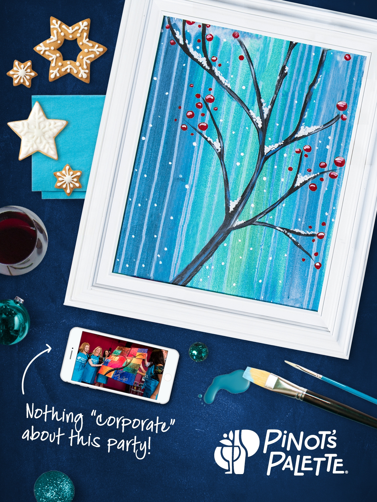 Pinot's Palette Makes A Great Place To Hold Your Holiday Party!