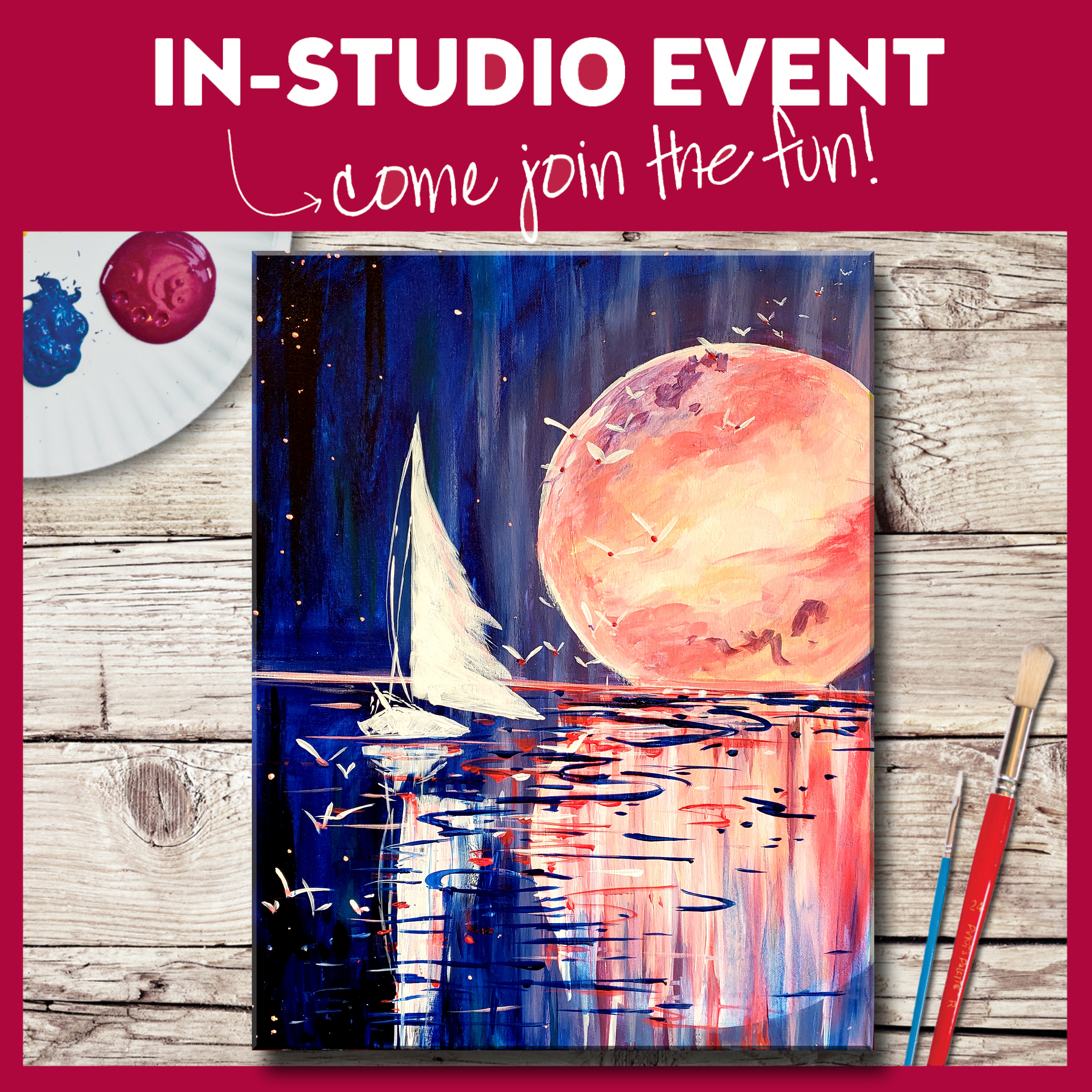 IN-STUDIO EVENT --  LIMITED SEATING FREE SAILING