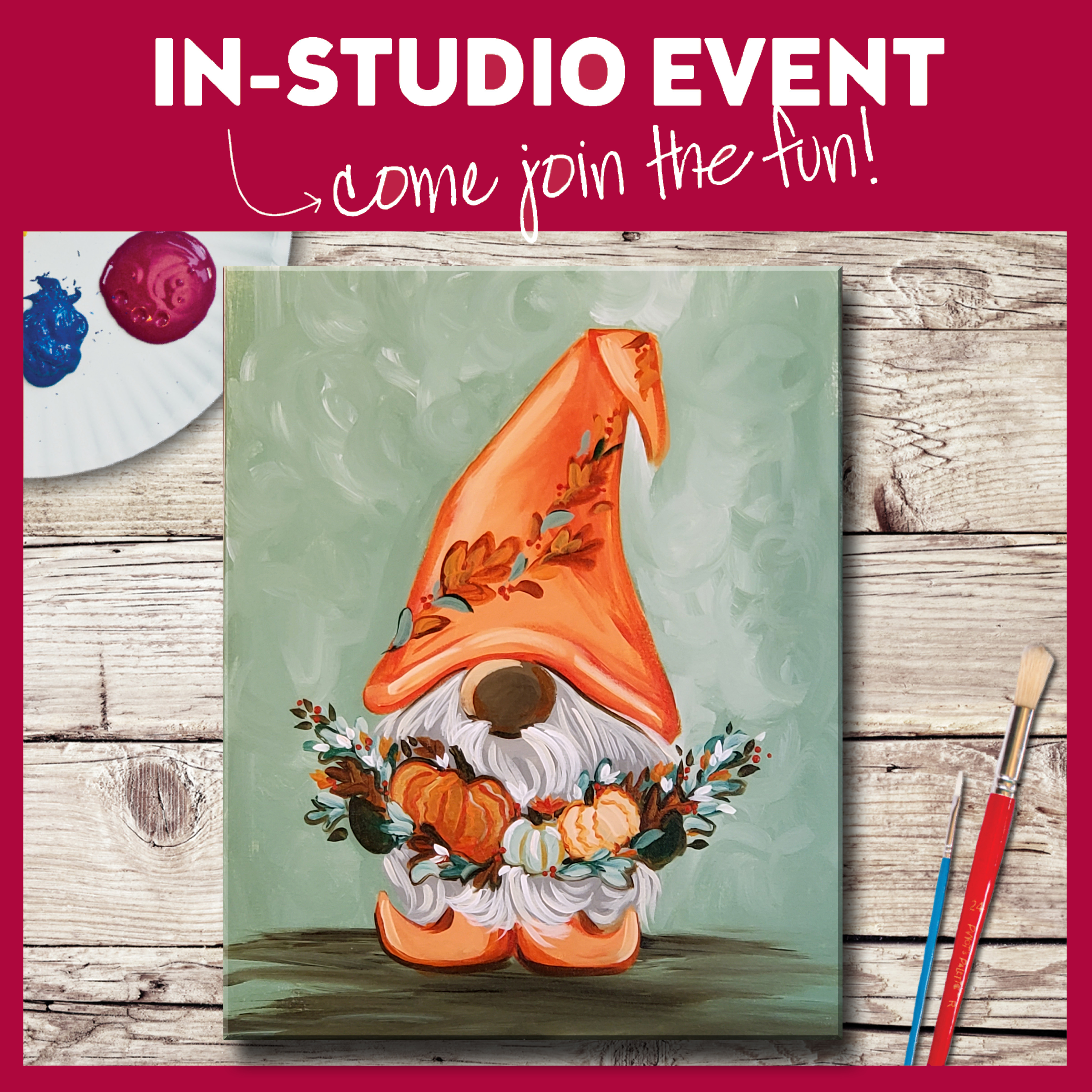 IN-STUDIO EVENT-HARVEST GNOME