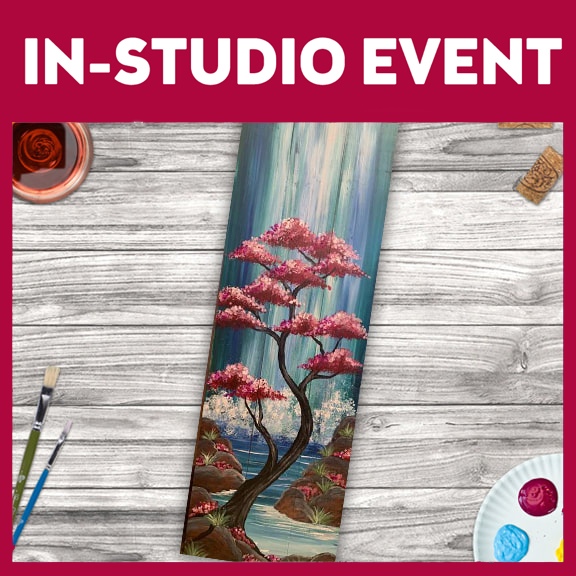 IN-STUDIO EVENT --  LIMITED SEATING CASCADING FALLS WOOD PLANK