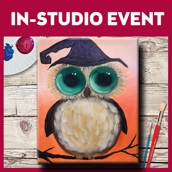 IN-STUDIO EVENT-FAMILY PAINT DAY! HOOTIE HALLOWEEN