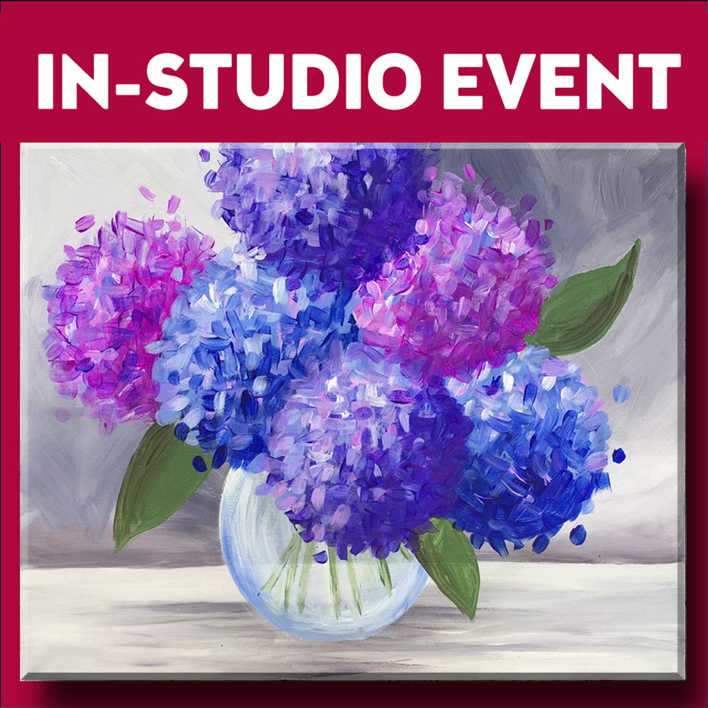 IN-STUDIO EVENT --  LIMITED SEATING LOVELY HYDRANGEAS