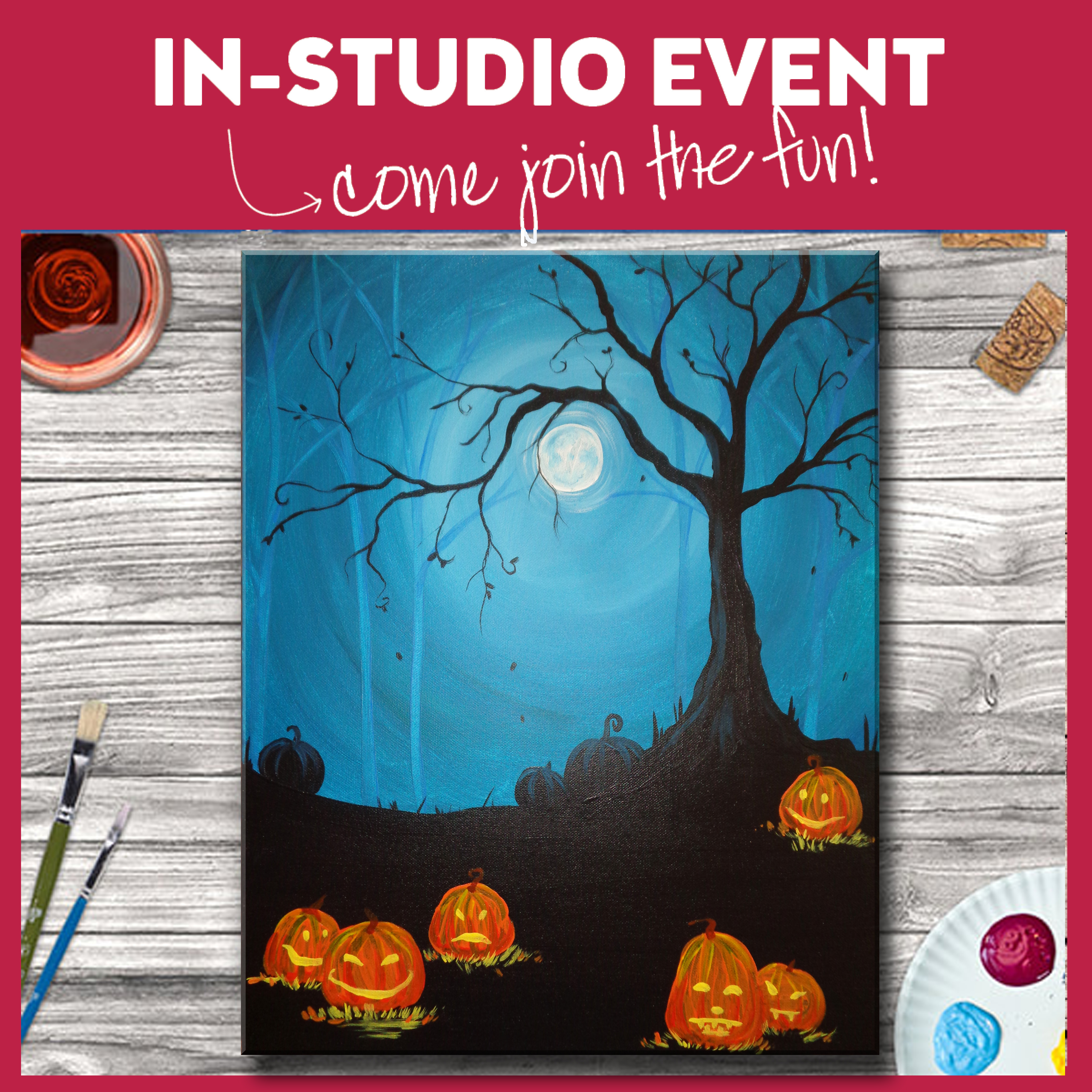 IN-STUDIO EVENT-FAMILY PAINT DAY! MOONLIGHT MISCHIEF