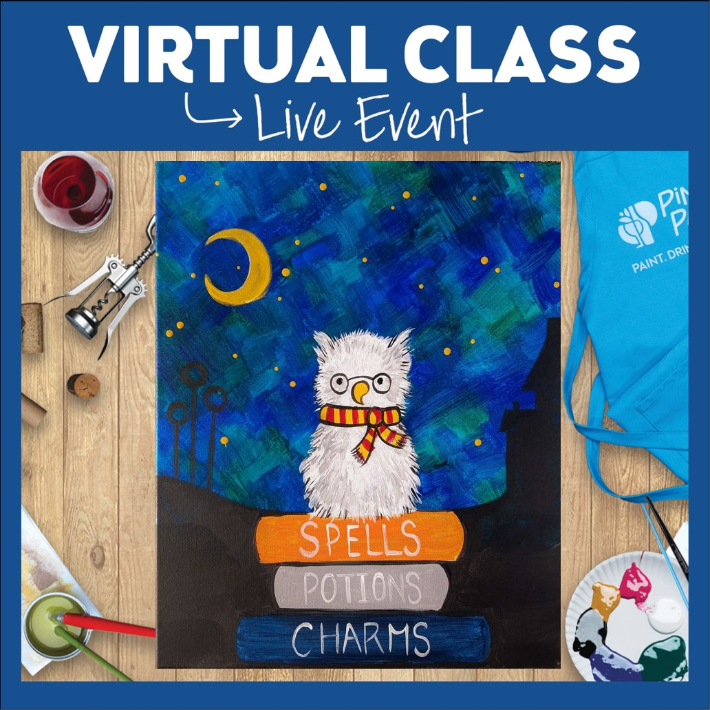 HAPPY BDAY HP! LIVE INTERACTIVE VIRTUAL CLASS - SUPPLIES INCLUDED