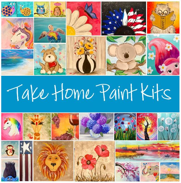 CLICK HERE TO VIEW ALL TAKE HOME KIT OPTIONS. KITS INCLUDE ALL SUPPLIES & PRINTED INSTRUCTIONS. ORDER ONLINE-PICK UP AT STUDIO Mon-Sat, 3:00-6:00