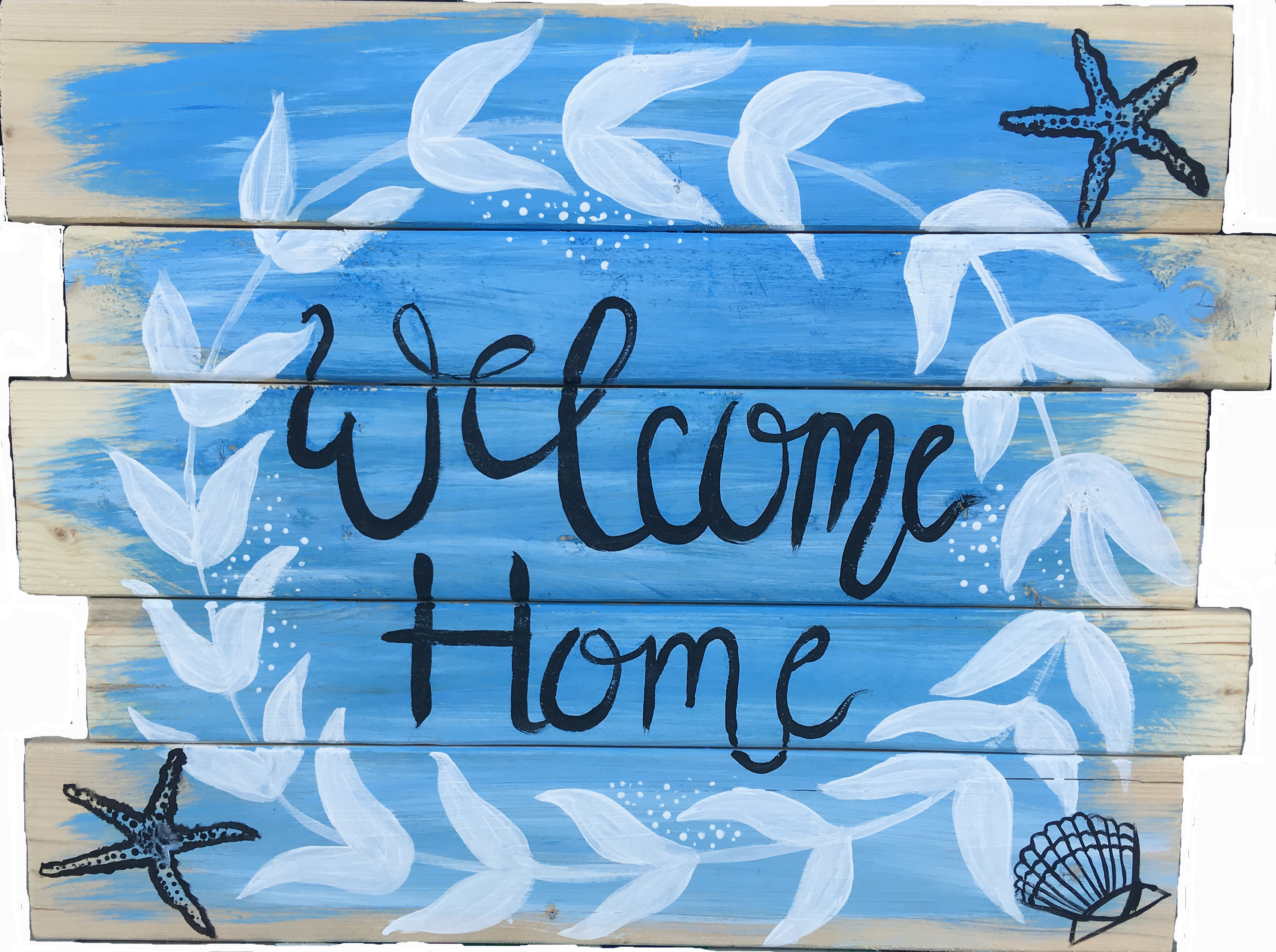 Wood Pallet Sign Beach Welcome