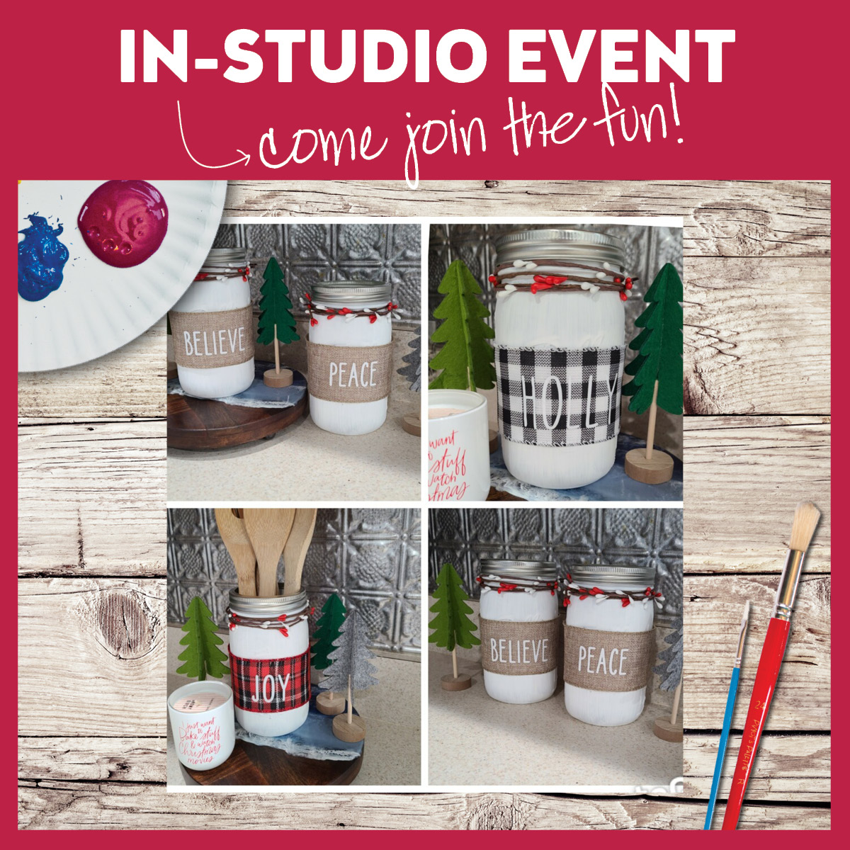 Customizable Holiday Jars-Set Of Two