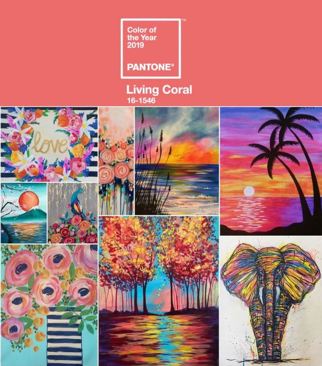 Oklahoma City Living Coral Paintings