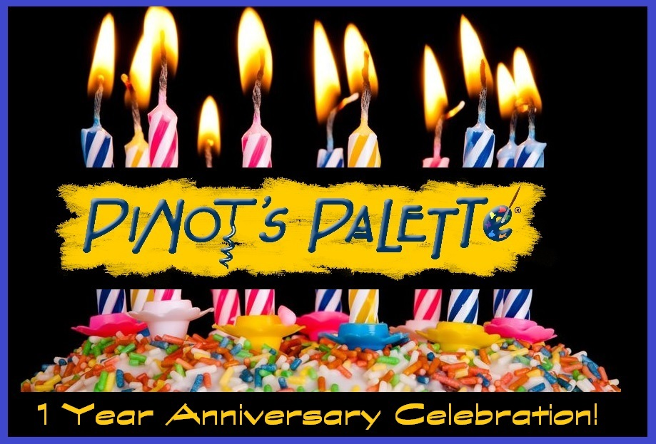 Pinot's Palette - Bricktown is Turning One!