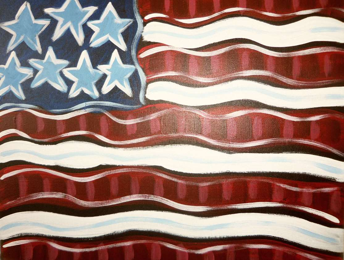 Pinot's Palette Stars and Stripes