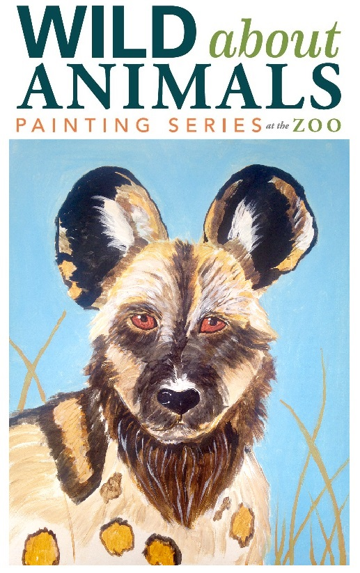 African Painted Dog painting