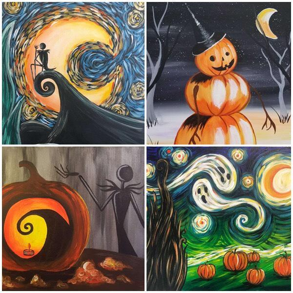 Get In The Mood For Halloween With These Amazing Halloween Themed And Black Light Paintings Pinot S Palette