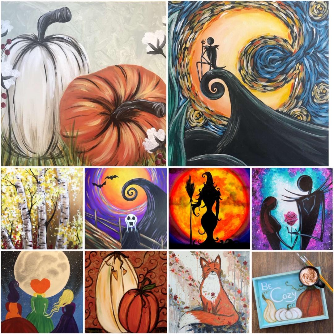 Decorate For Fall & Halloween With These Fabulous Paintings!