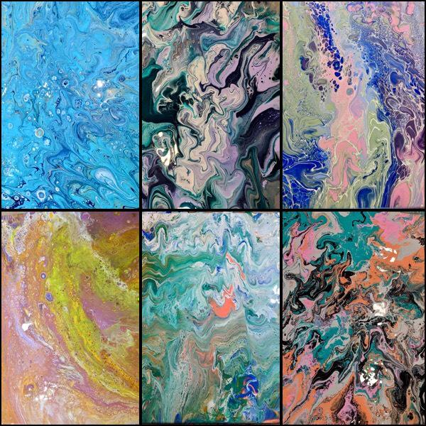 Pour Paintings Are All The Rage Right Now! Come In To Our Studio And Make One Of Your Own!