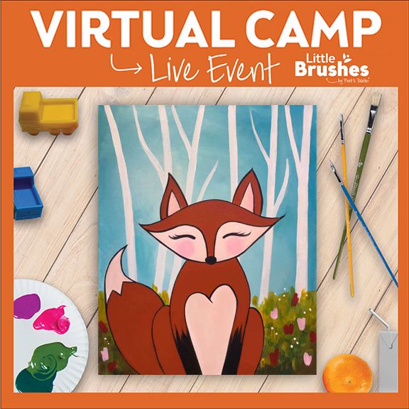 Little Brushes Painting Camp - Flora Fox