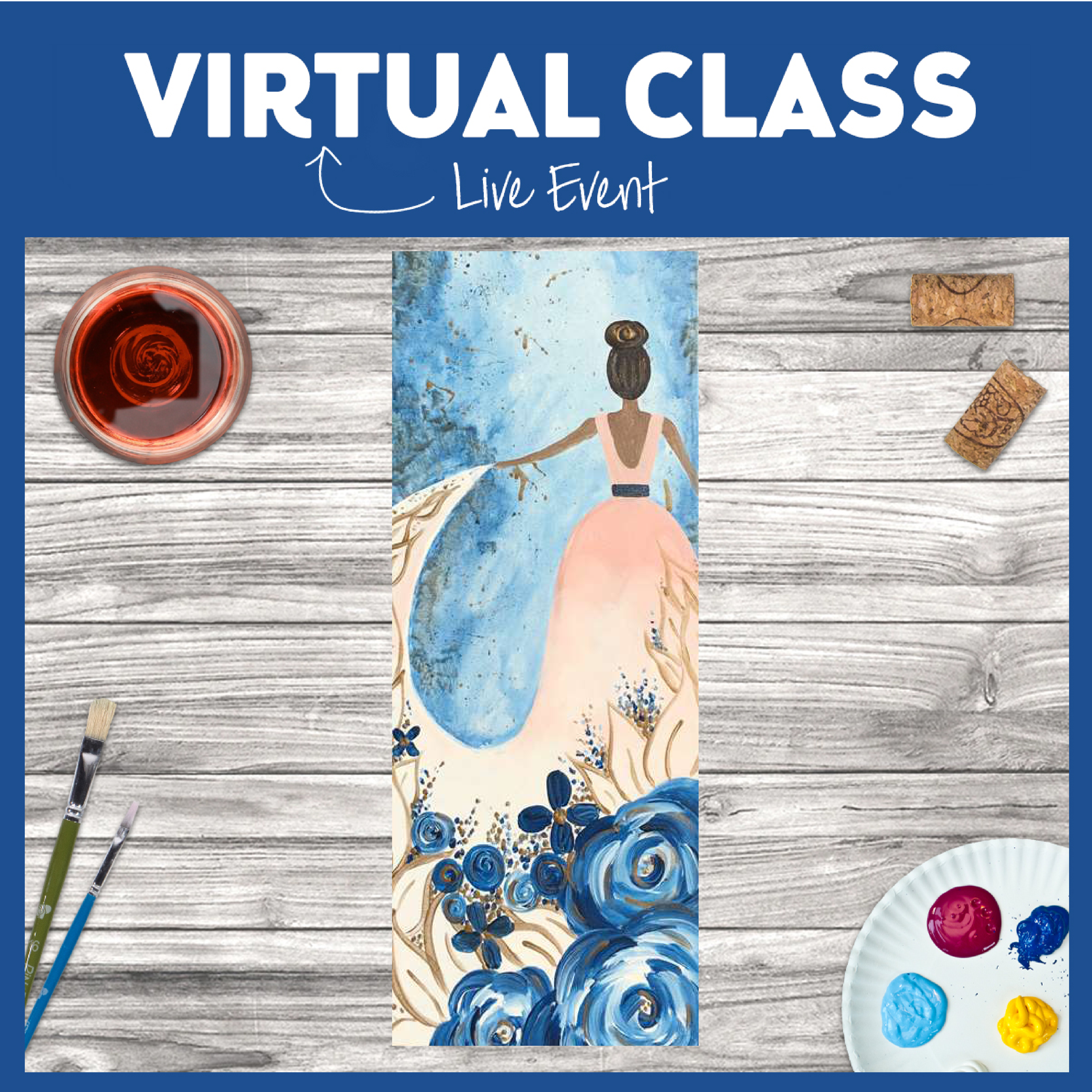 Virtual LIVE or Replay- Classic Blue Elegance