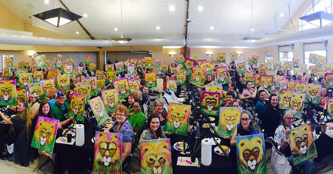 painting at the tulsa zoo pinot 39 s palette