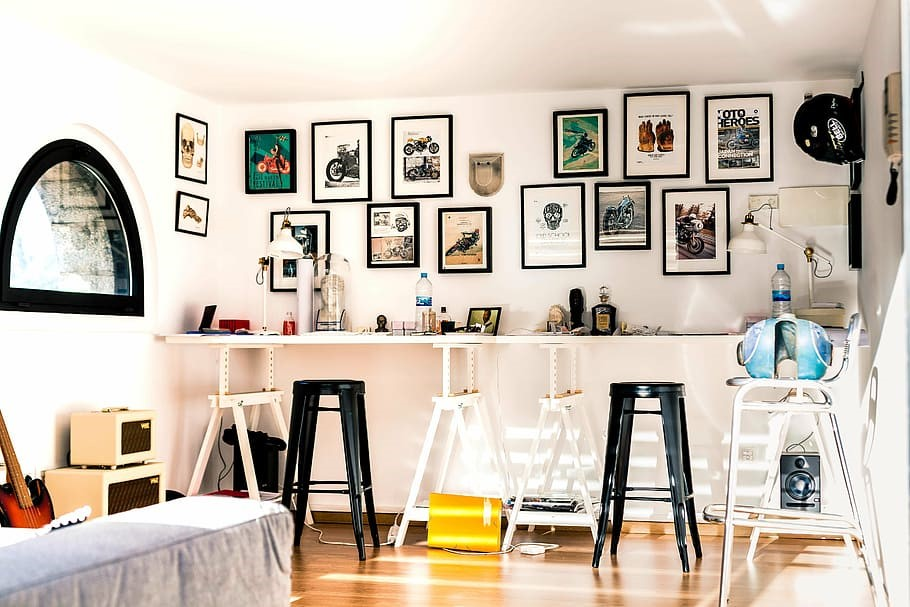 How to Hang Art While Renting