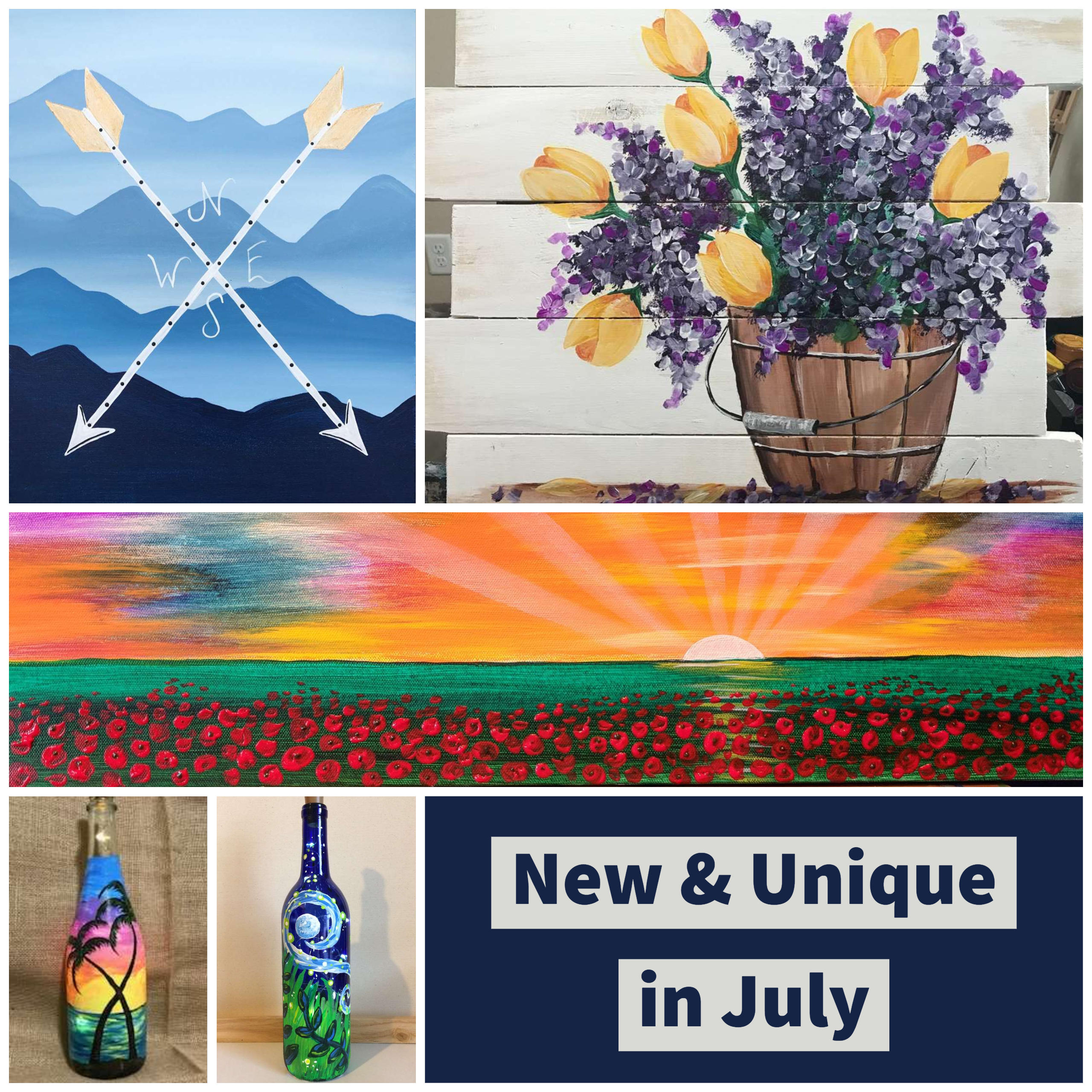 New & Unique in July!