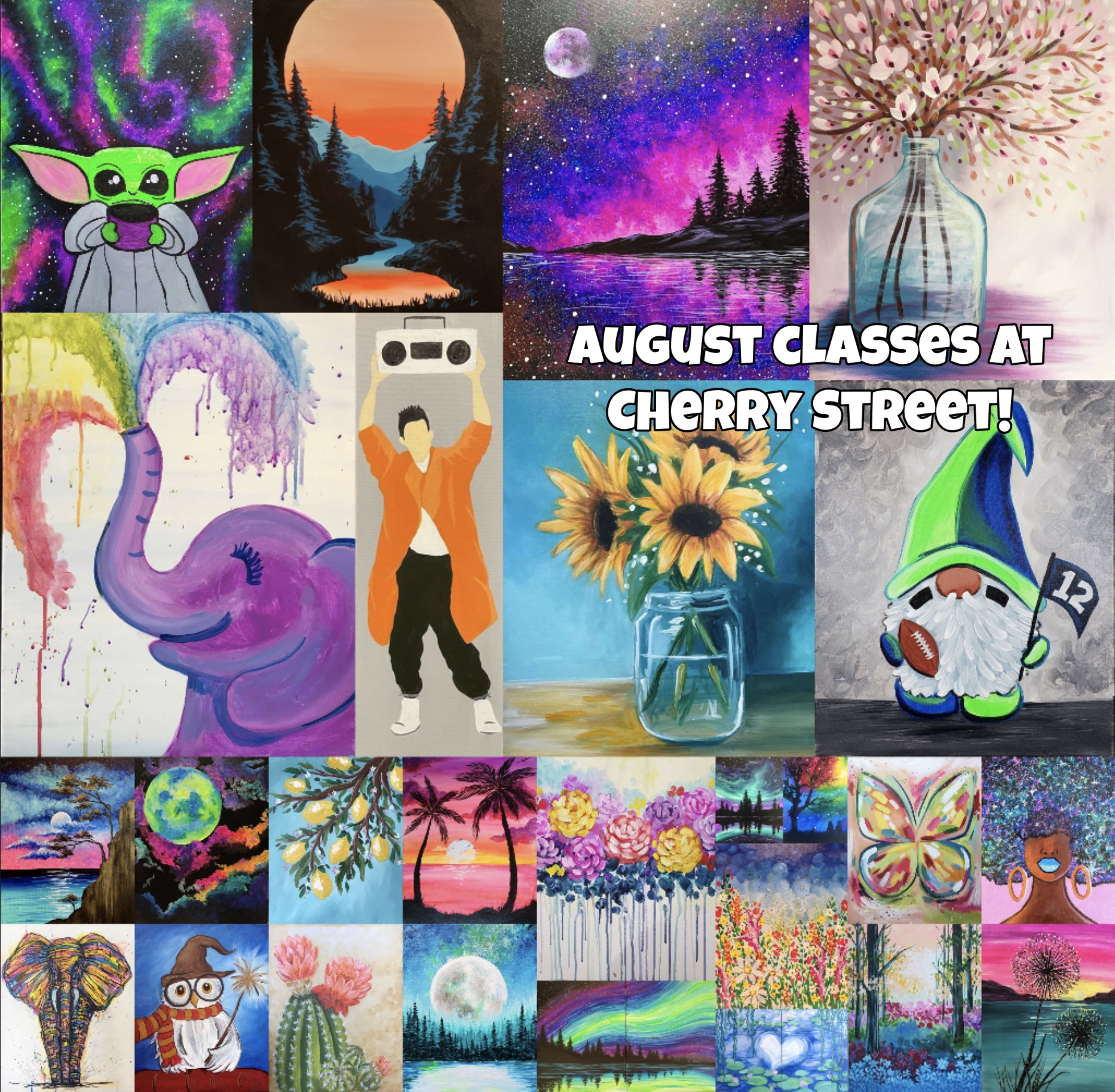 Cherry Street's August Calendar