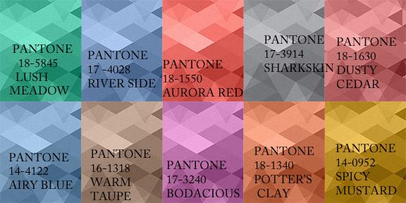 Fall 2016 Pantone Color Palette