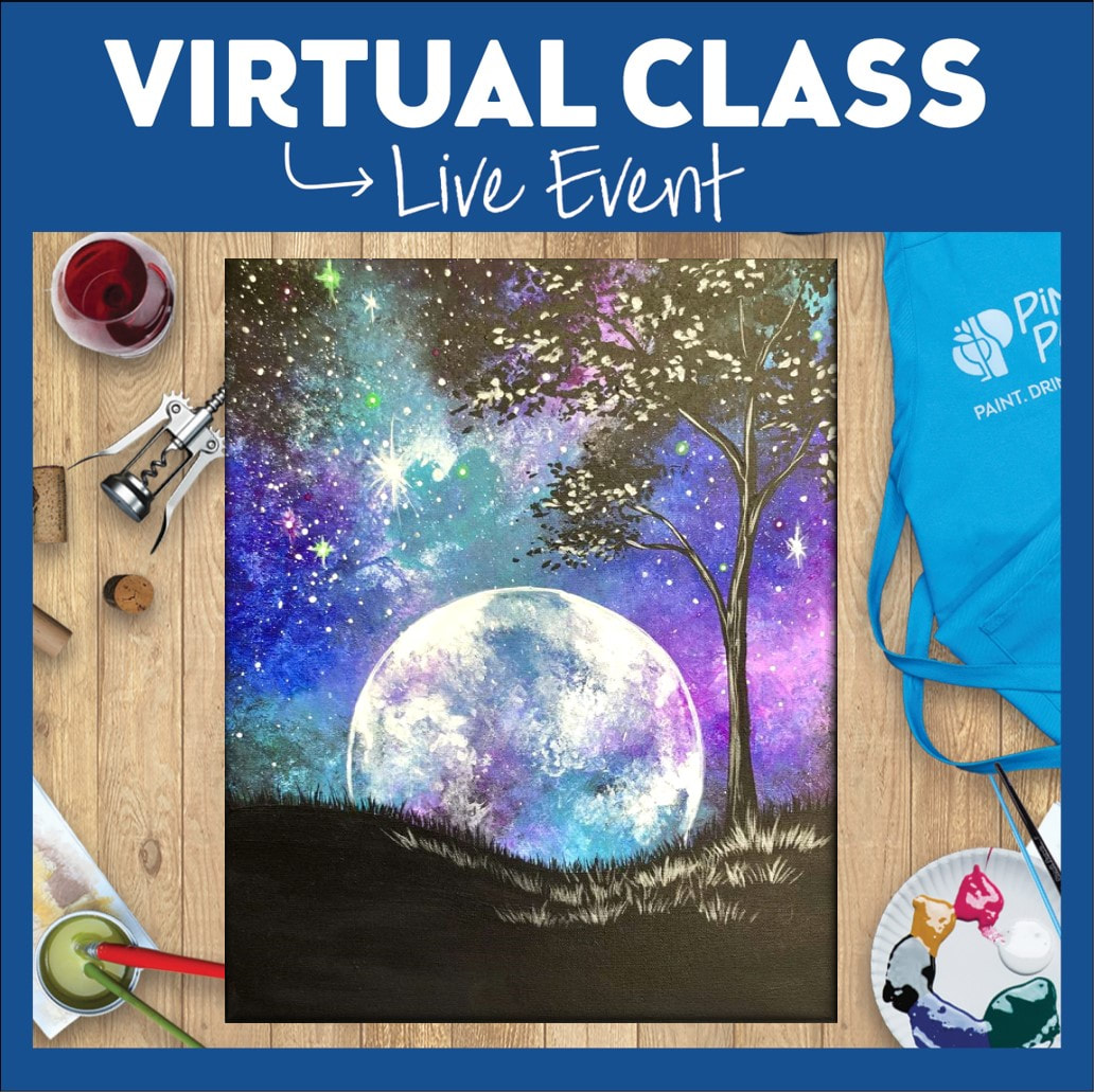 Celestial Evening 2 Ways: Take Home Art Kit Included or Use Your Own Supplies!