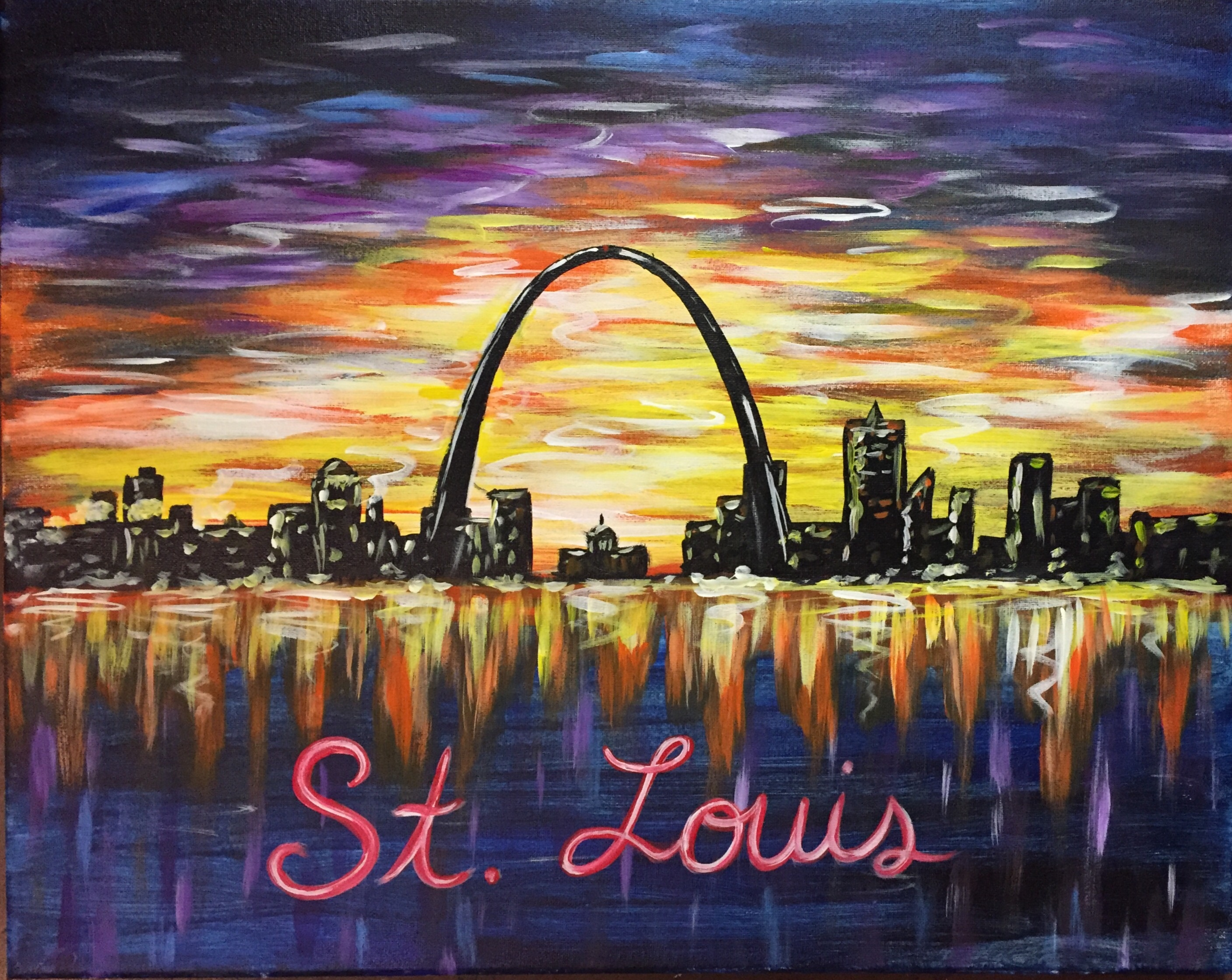 wine and painting saint louis
