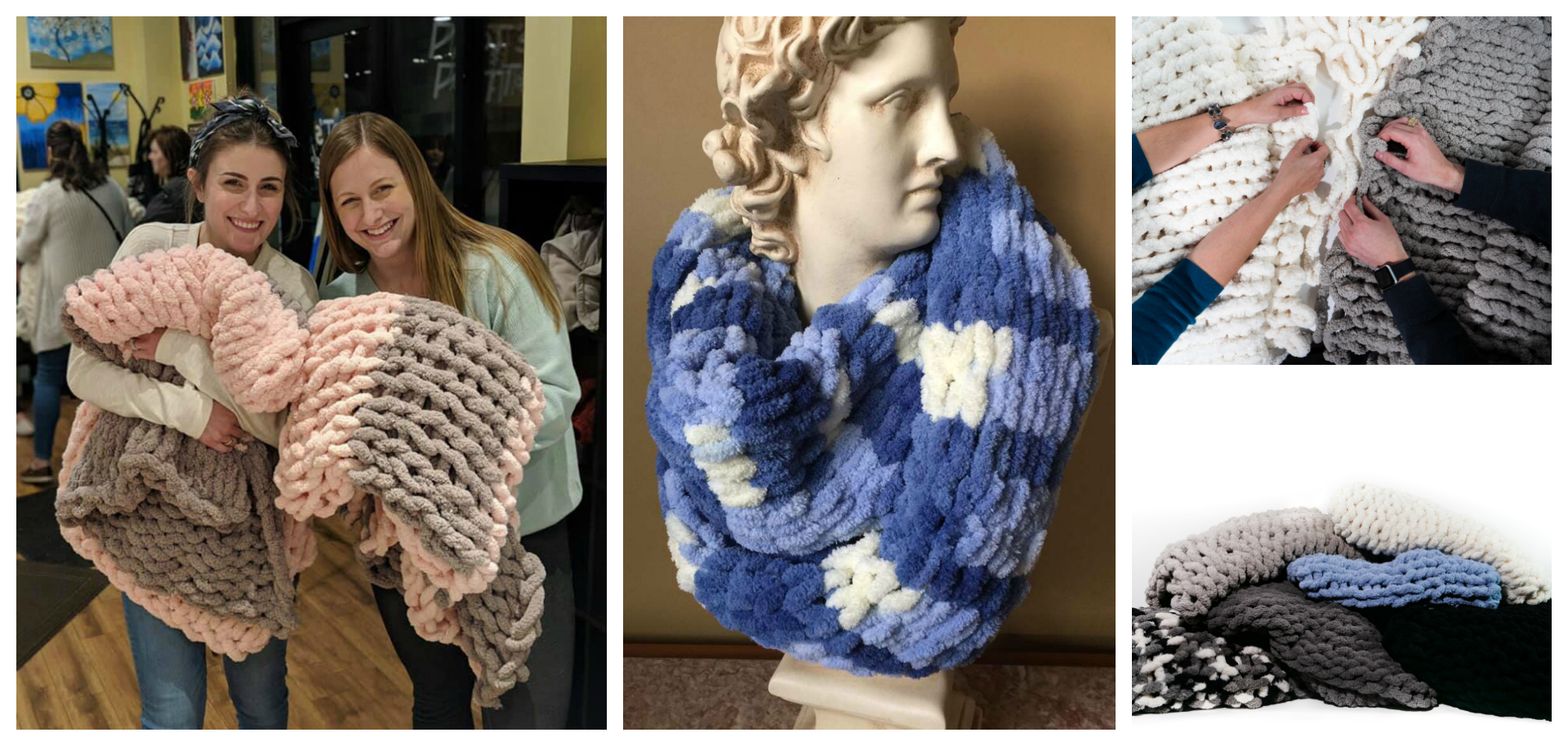 DIY Chunky Knit Blanket OR Infinity Scarf