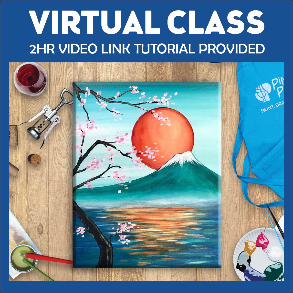 New - Live Virtual Painting Class Experience