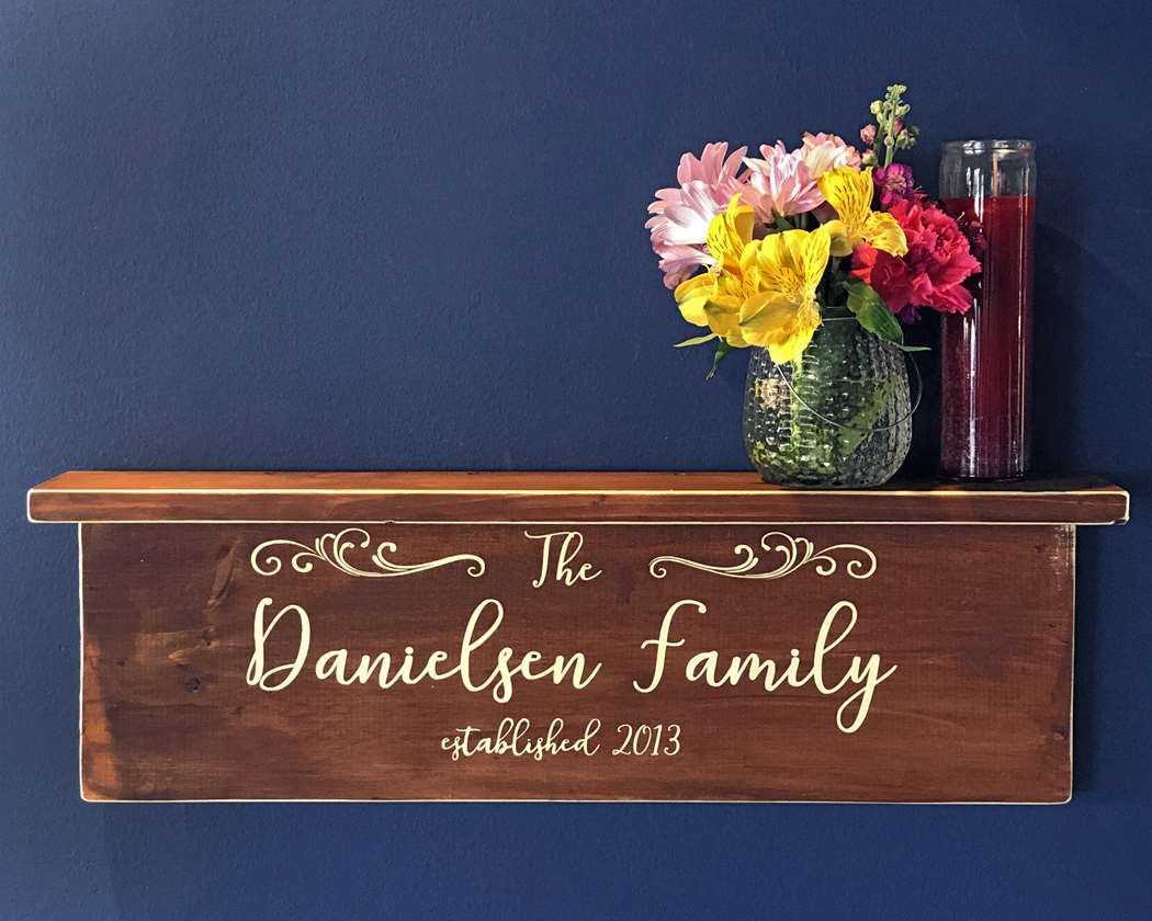 Personalized DIY Wood Shelf