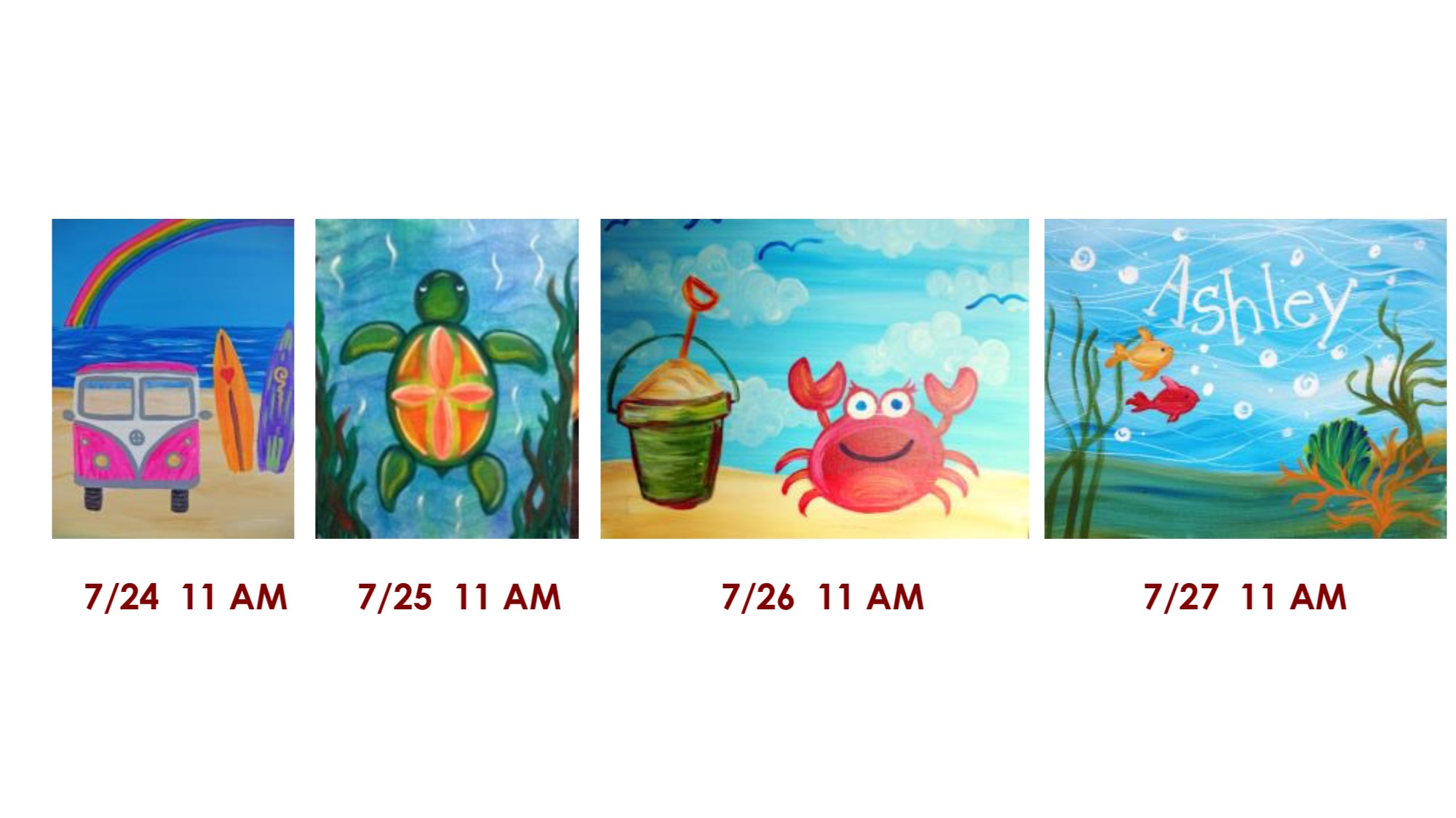 kids paintings, kids art classes, summer activities for kids