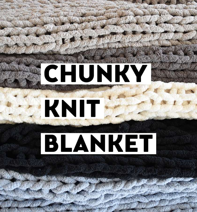 DIY Cozy Hand Knit Blankets