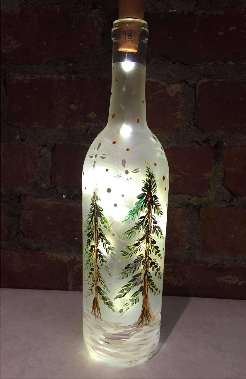 Evergreen Wine Bottle