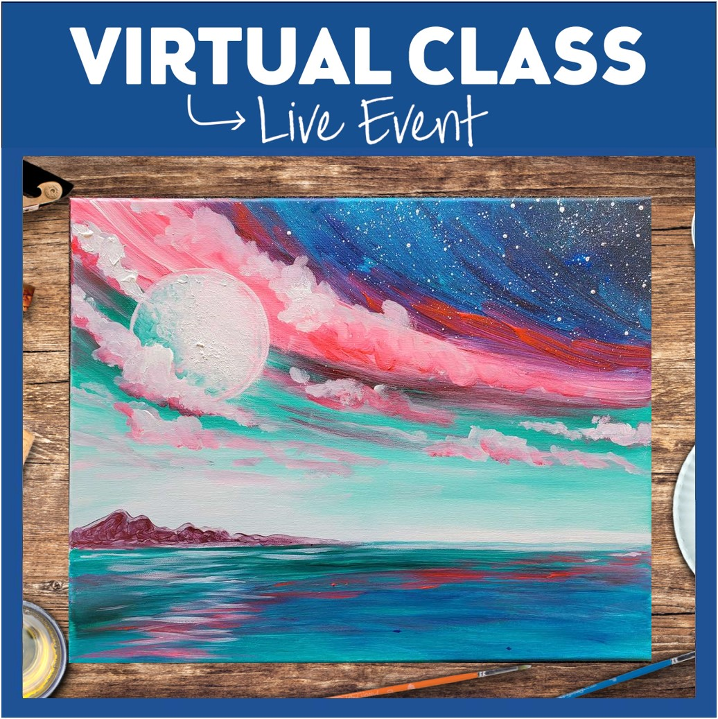 LIVE INTERACTIVE VIRTUAL CLASS-PAINTING KIT INCLUDED