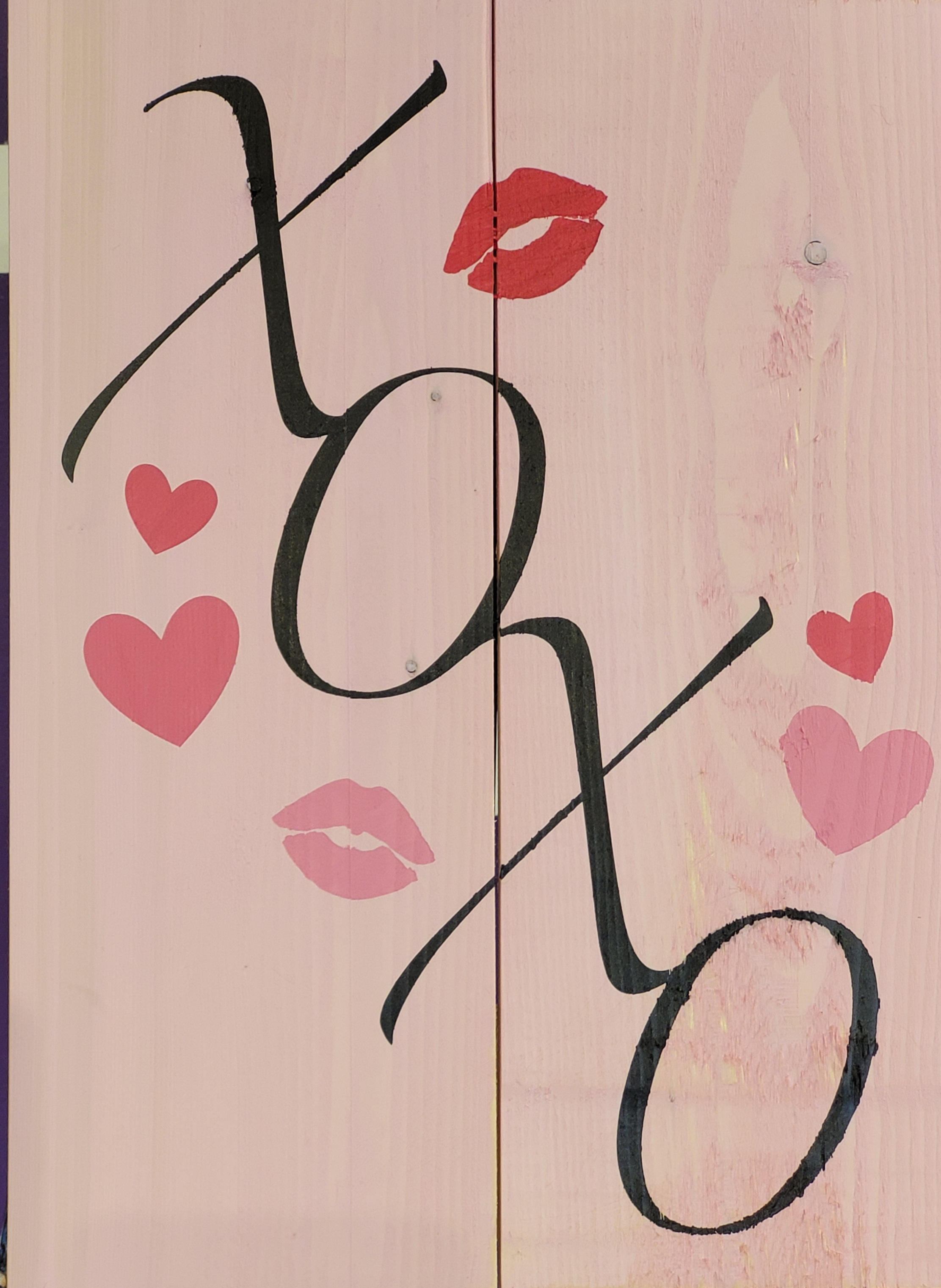Hugs and Kisses Wood Board
