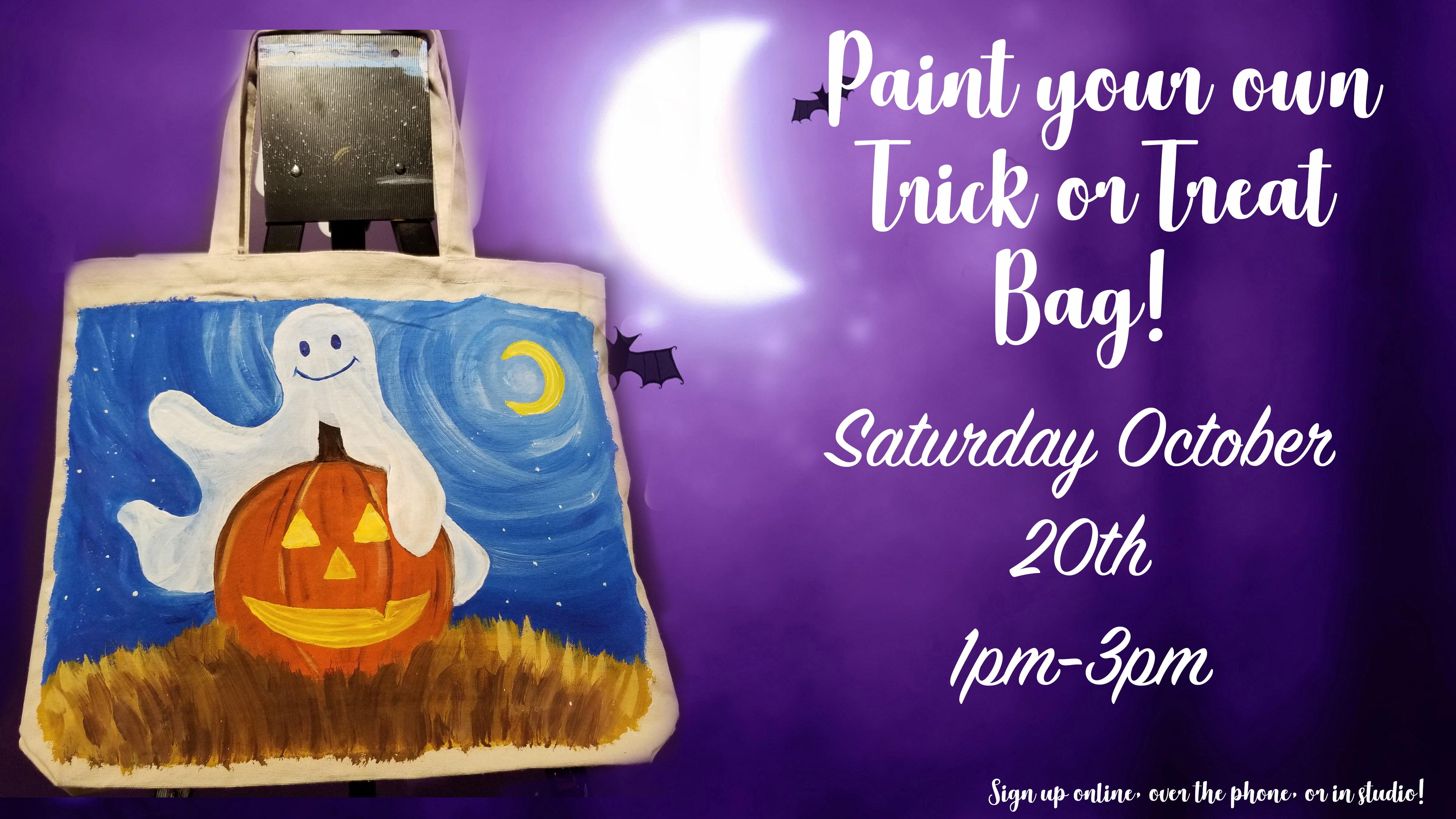 Paint your own Trick or Treat Bag!