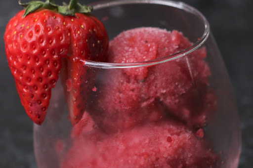 Cool off this some Fruit and Wine Sorbet!