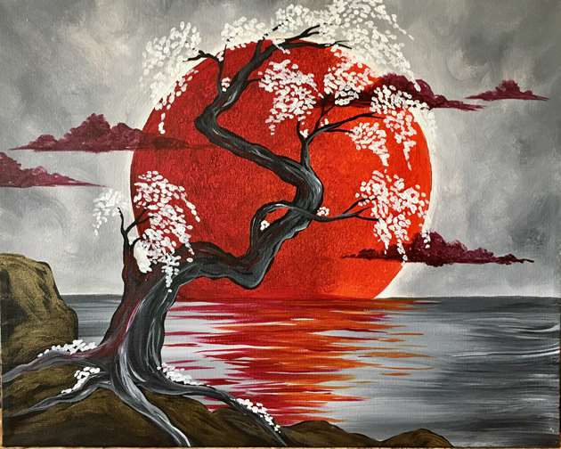 """Japanese Crimson Moon"""