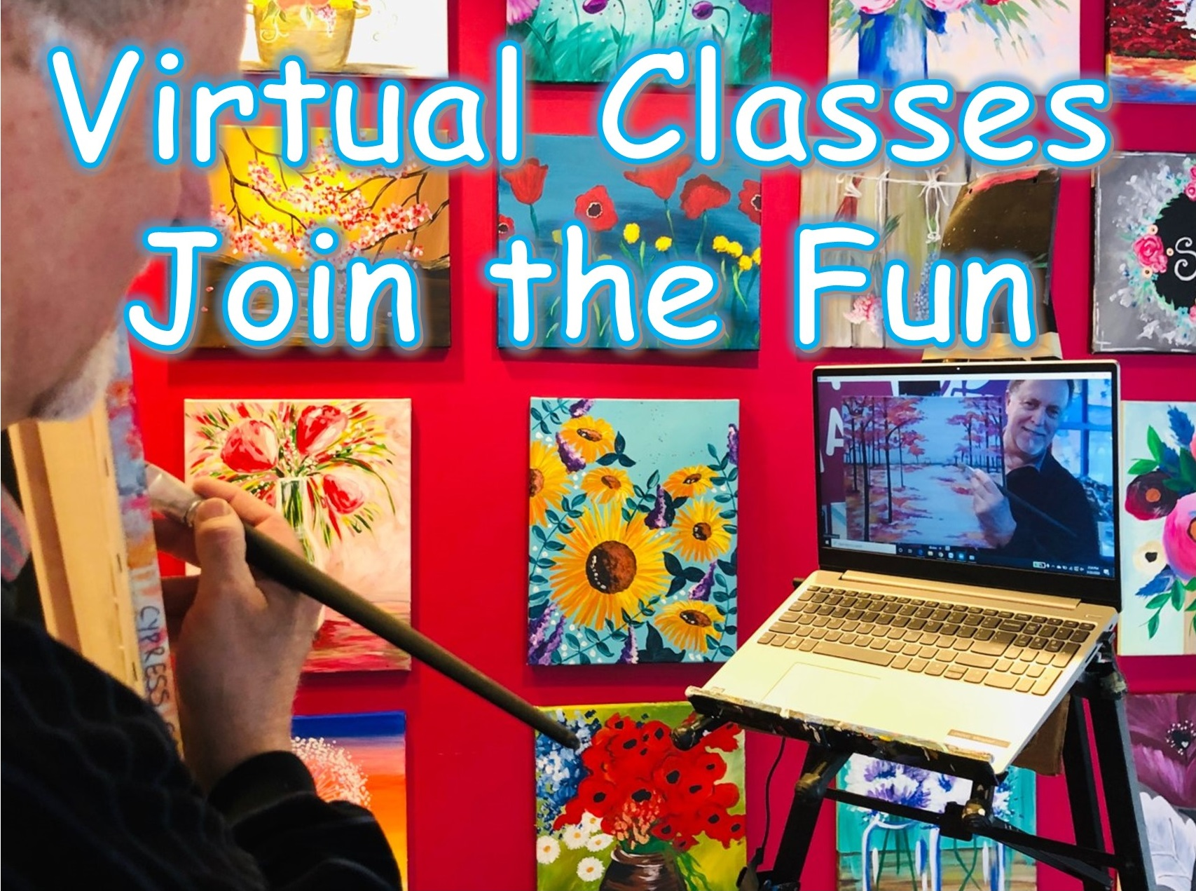 Virtual Painting Classes - Pinot's Palette